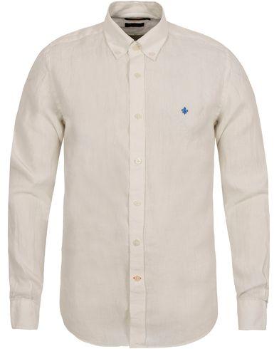 Morris Douglas Linen Shirt Off White i gruppen Skjortor / Casual Skjortor hos Care of Carl (12708411r)