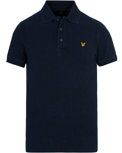 Lyle & Scott Pique Polo Shirt Dark Indigo i gruppen Kläder / Pikéer / Kortärmade pikéer hos Care of Carl (12712511r)