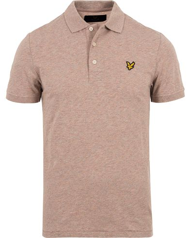 Lyle & Scott Multi Crew Neck Colour Pique Polo Shirt Roset i gruppen Pikéer / Kortärmade pikéer hos Care of Carl (12712711r)
