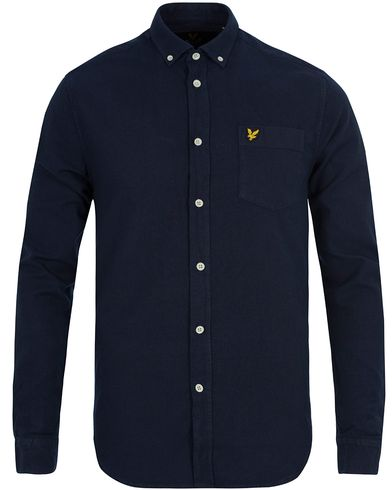 Lyle & Scott Oxford Shirt Dark Indigo i gruppen Klær / Skjorter / Oxfordskjorter hos Care of Carl (12713311r)