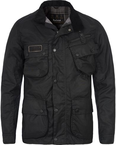 Barbour International Wax Slim Jacket Black i gruppen Jakker / Voksede jakker hos Care of Carl (12725211r)