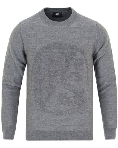 PS by Paul Smith PS Tonal Wool Sweater Grey i gruppen Gensere / Strikkede gensere hos Care of Carl (12726311r)