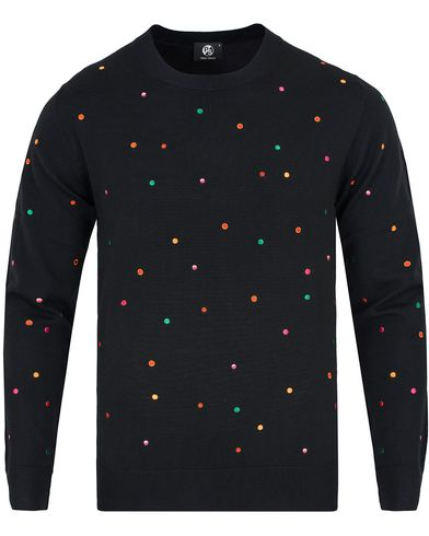PS by Paul Smith Woven Dot Sweater Black i gruppen Gensere / Strikkede gensere hos Care of Carl (12726611r)