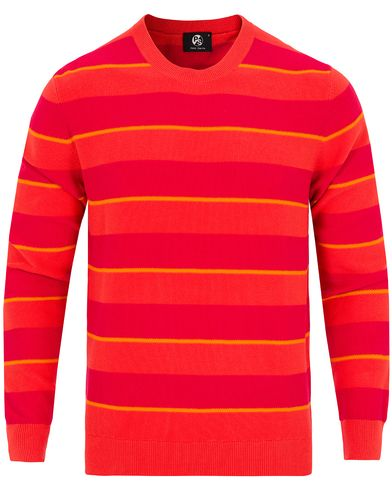 PS by Paul Smith Striped Cotton Sweater Pink/Orange i gruppen Kläder / Tröjor / Stickade tröjor hos Care of Carl (12726811r)