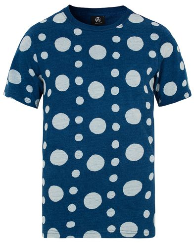 PS by Paul Smith Indigo Dot Tee Jeans Blue i gruppen T-Shirts / Kortermede t-shirts hos Care of Carl (12727411r)