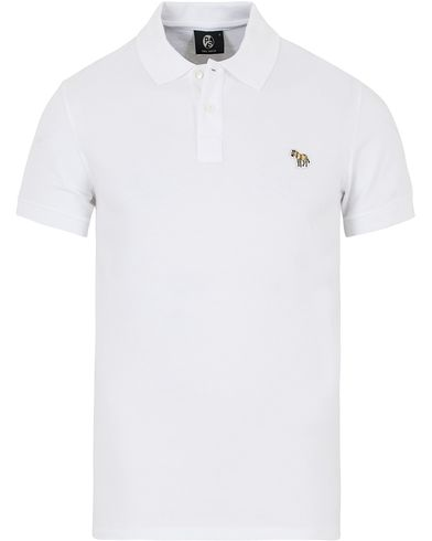 PS by Paul Smith Slim Fit Polo White i gruppen Pikéer / Kortärmade pikéer hos Care of Carl (12727611r)