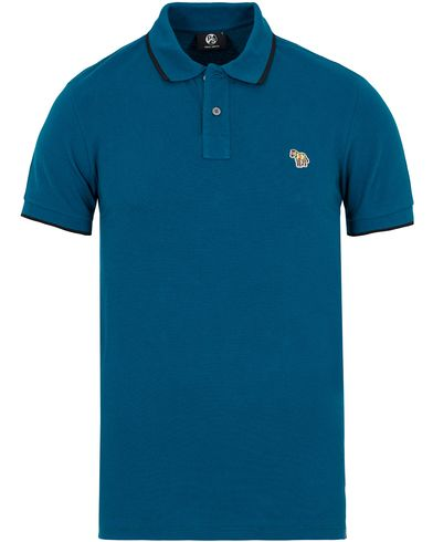 PS by Paul Smith Slim Fit Polo Turqoise i gruppen Design A / Pikéer / Kortermet piké hos Care of Carl (12727711r)