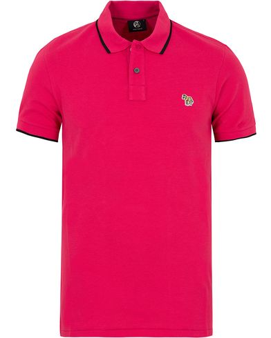 PS by Paul Smith Slim Fit Polo Fuchsia Pink i gruppen Kläder / Pikéer / Kortärmade pikéer hos Care of Carl (12727911r)