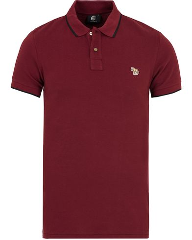 PS by Paul Smith Slim Fit Polo Damson Red i gruppen Kläder / Pikéer / Kortärmade pikéer hos Care of Carl (12728011r)