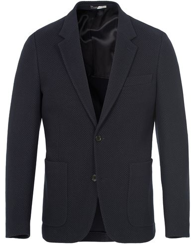 PS by Paul Smith Cotton Jersey Blazer Navy i gruppen Dressjakker / Enkeltspente dressjakker hos Care of Carl (12728211r)