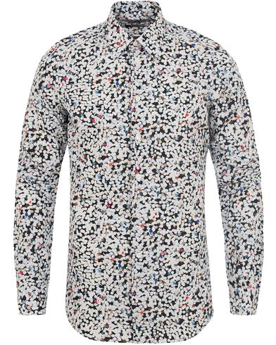 PS by Paul Smith Tailored Fit Printed Shirt White i gruppen Kläder / Skjortor / Oxfordskjortor hos Care of Carl (12728611r)