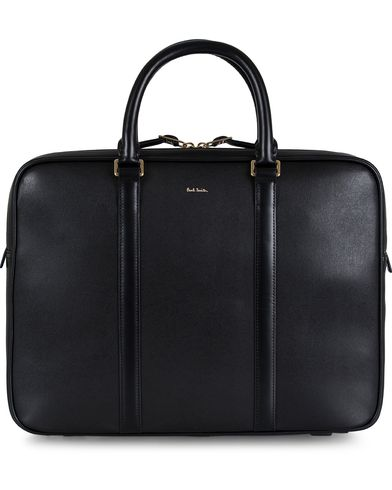 Paul Smith Portfolio Leather Bag Black  i gruppen Vesker / Dokumentvesker hos Care of Carl (12729710)