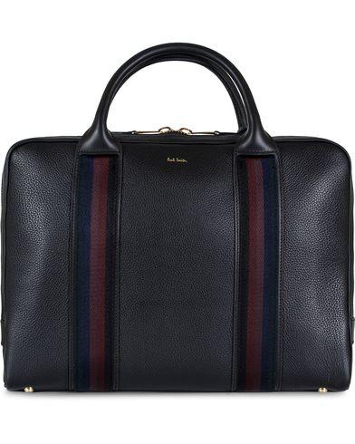 Paul Smith Portfolio Leather Bag Black  i gruppen Vesker / Dokumentvesker hos Care of Carl (12730210)