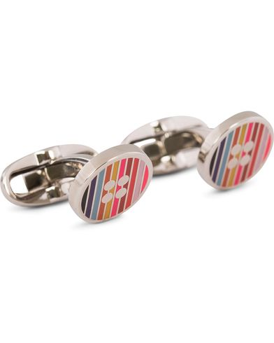 Paul Smith Striped Button Cufflinks Multistripe  i gruppen Accessoarer / Manschettknappar hos Care of Carl (12730710)