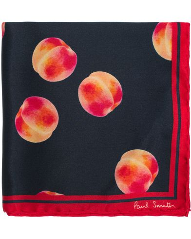 Paul Smith Peach Pocket Square Navy  i gruppen Assesoarer / Lommetørklær hos Care of Carl (12730910)