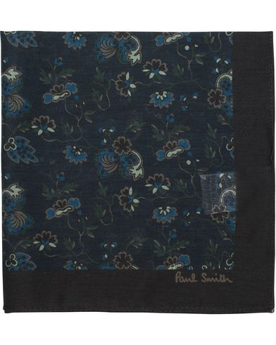 Paul Smith Flower Print Pocket Square Navy  i gruppen Assesoarer / Lommetørklær hos Care of Carl (12731010)