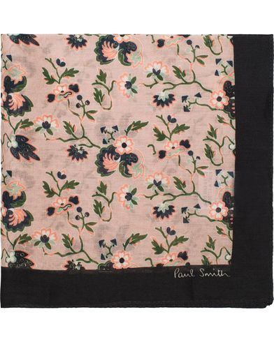 Paul Smith Flower Print Pocket Square Pink  i gruppen Assesoarer / Lommetørklær hos Care of Carl (12731110)