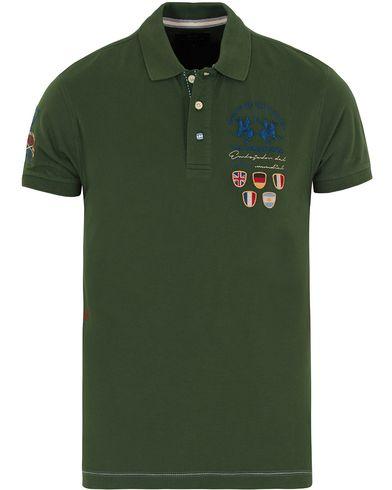 La Martina Logo Polo Piqué Army Green i gruppen Klær / Pikéer / Kortermet piké hos Care of Carl (12733211r)