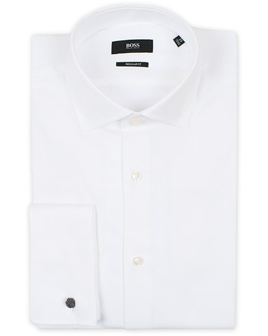 BOSS Gardner Regular Fit Shirt Double Cuff White i gruppen Skjorter / Formelle skjorter hos Care of Carl (12733611r)