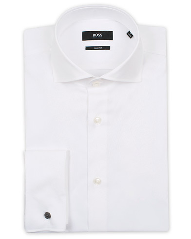 BOSS Jaiden Slim Fit Shirt Double Cuff White i gruppen Skjortor / Formella skjortor hos Care of Carl (12733711r)