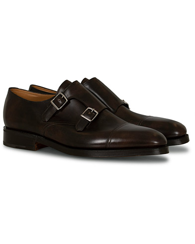 John Lobb William Double Monkstrap Dark Brown Misty Calf i gruppen Skor / Munkskor hos Care of Carl (12735611r)