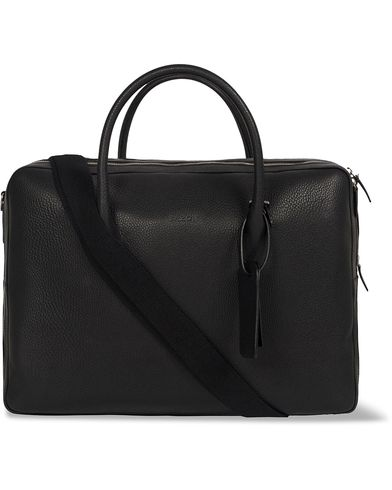 Baron 24 Hour Bag Black Leather  i gruppen Accessoarer / Väskor / Weekendbags hos Care of Carl (12736410)