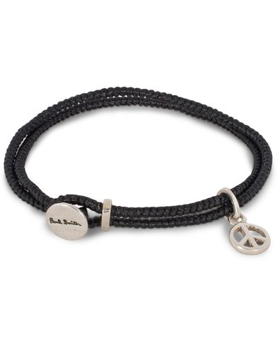 Paul Smith Black 'Peace' Charm Bracelet Sterling Silver  i gruppen Accessoarer / Armband hos Care of Carl (12737310)