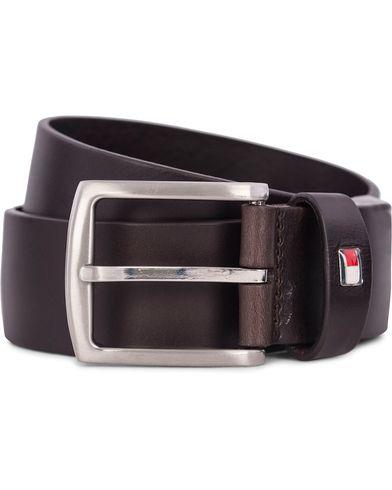 Tommy Hilfiger New Denton Belt 4 cm Testa Di Moro i gruppen Accessoarer / Bälten / Släta bälten hos Care of Carl (12738611r)