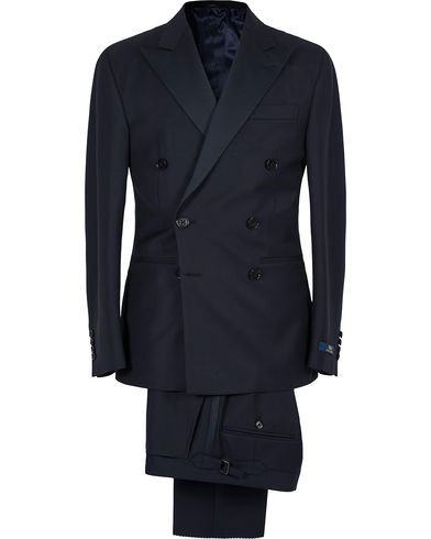 Polo Ralph Lauren Double Breasted Peaked Lapel Tuxedo Navy i gruppen Kostymer / Smoking hos Care of Carl (12739011r)