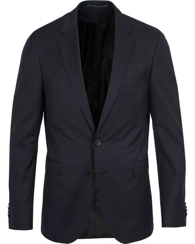 BOSS Ryan Super Slim Fit Wool Blazer Dark Blue i gruppen Dressjakker / Enkeltspente dressjakker hos Care of Carl (12742811r)