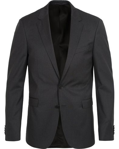 BOSS Ryan Slim Fit Wool Blazer Charcoal i gruppen Klær / Dressjakker / Enkeltspente dressjakker hos Care of Carl (12743011r)