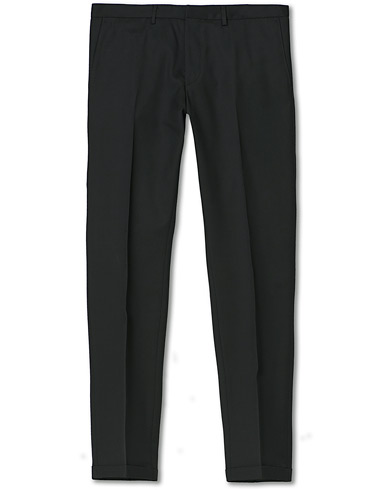 BOSS Wave Slim Fit Wool Trousers Black i gruppen Bukser / Dressbukser hos Care of Carl (12743211r)
