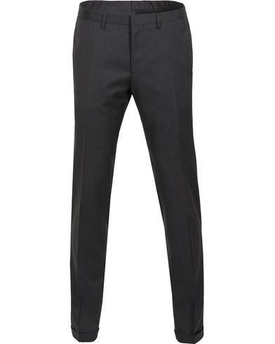 BOSS Wave Slim Fit Wool Trousers Charcoal i gruppen Kläder / Byxor / Kostymbyxor hos Care of Carl (12743311r)