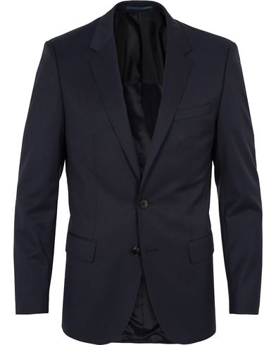 BOSS Hayes Regular Fit Wool Blazer Dark Blue i gruppen Klær / Dressjakker / Enkeltspente dressjakker hos Care of Carl (12743411r)