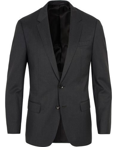 BOSS Hayes Regular Fit Wool Blazer Charcoal i gruppen Kavajer / Enkelknäppta kavajer hos Care of Carl (12743611r)