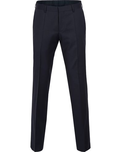 BOSS Gibson Regular Fit Wool Trousers Dark Blue i gruppen Byxor / Kostymbyxor hos Care of Carl (12743711r)