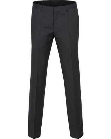 BOSS Gibson Regular Fit Wool Trousers Charcoal i gruppen Byxor / Kostymbyxor hos Care of Carl (12743911r)