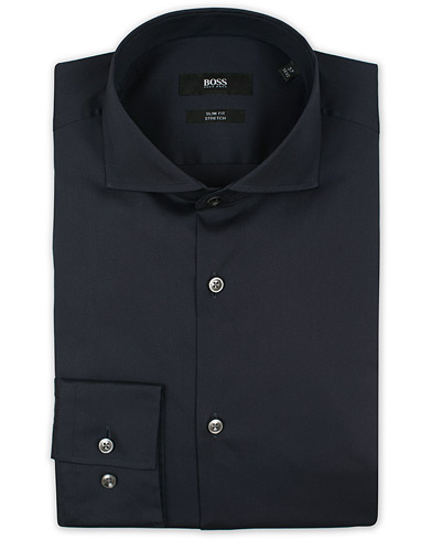 BOSS Jason Slim Fit Stretch Shirt Navy i gruppen Klær / Skjorter / Formelle skjorter hos Care of Carl (12744011r)