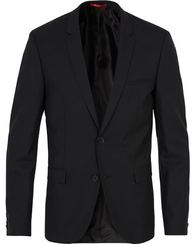 HUGO AddyS Stretch Wool Blazer Black i gruppen Klær / Dressjakker / Enkeltspente dressjakker hos Care of Carl (12744811r)