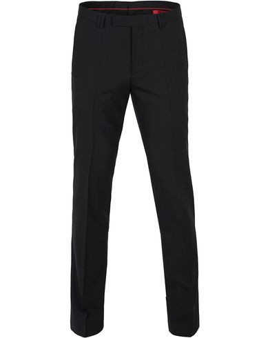 HUGO HopeS Stretch Wool Trousers Black i gruppen Byxor / Kostymbyxor hos Care of Carl (12744911r)