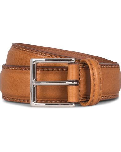 Anderson's Leather 3,5 cm Belt Tan Brown i gruppen Assesoarer / Belter / Umønstrede belter hos Care of Carl (12746211r)