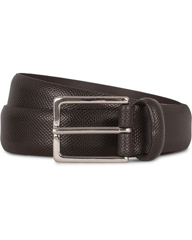 Anderson's Dressed Leather 3 cm Belt Brown Grained i gruppen Assesoarer / Belter / Umønstrede belter hos Care of Carl (12746311r)