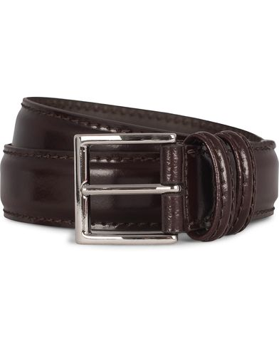 Anderson's Plain Leather 3,5 cm Belt Shiny Burgundy Red i gruppen Accessoarer / Bälten / Släta bälten hos Care of Carl (12746611r)