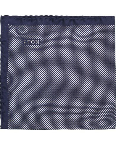 Eton Silk Dot Pocket Square Navy  i gruppen Accessoarer / Näsdukar hos Care of Carl (12746710)