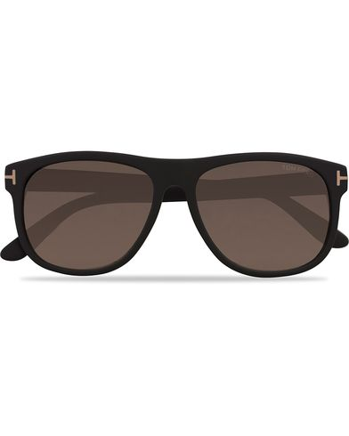 Tom Ford Oliver FT0236 Polarized Sunglasses Matt Black  i gruppen Solbriller / Buede solbriller hos Care of Carl (12747110)
