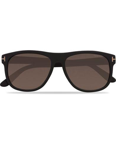 Tom Ford Oliver FT0236 Polarized Sunglasses Matt Black  i gruppen Assesoarer / Solbriller / Buede solbriller hos Care of Carl (12747110)