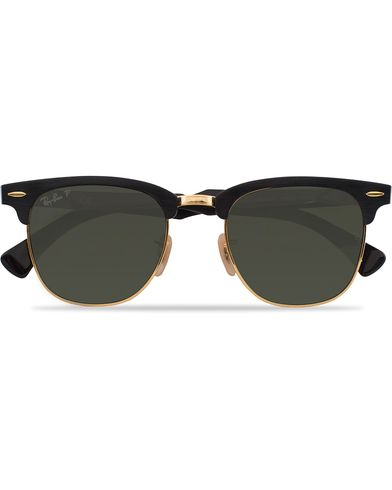 Ray-Ban 0RB3507 Clubmaster Sunglasses Black Arista/Polar Green  i gruppen Solglasögon / D-formade solglasögon hos Care of Carl (12748110)