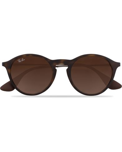 Ray-Ban 0RB4243 Round Sunglasses Rubber Havana  i gruppen Solbriller hos Care of Carl (12748310)