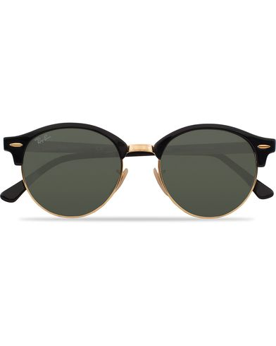 Ray-Ban 0RB4246 Clubround Sunglasses Black/Green  i gruppen Assesoarer / Solbriller / Runde solbriller hos Care of Carl (12748410)