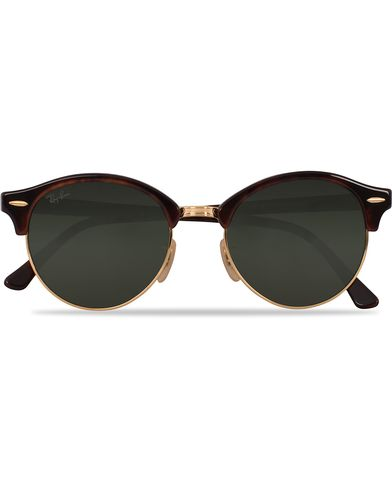Ray-Ban 0RB4246 Clubmaster Sunglasses Red Havana/Green  i gruppen Solglasögon hos Care of Carl (12748510)